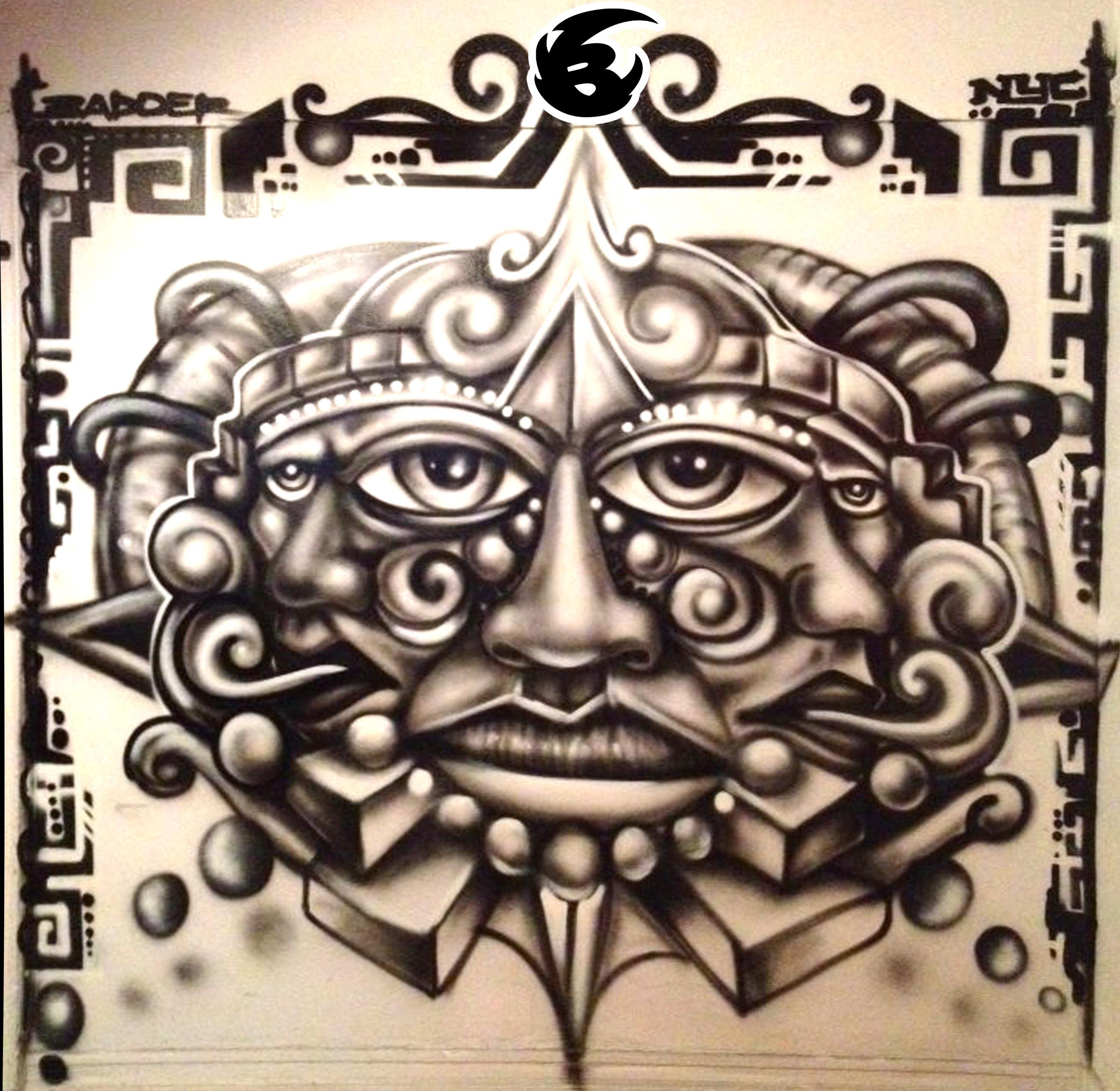 1 EYES AZTEC FACE